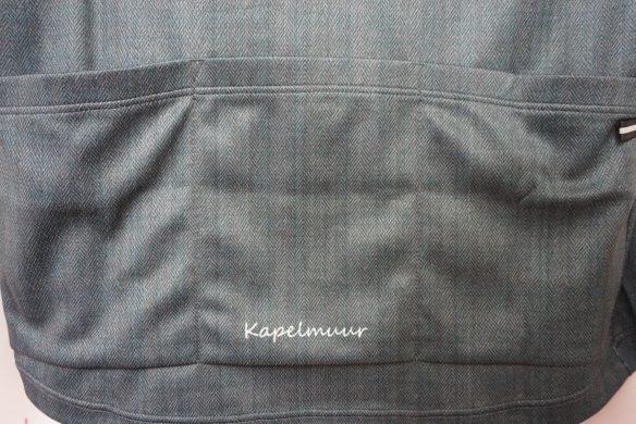 (カペルミュール)KAPELMUUR サイクリング 半袖ボタンダウンジャージ ヘリンボーン