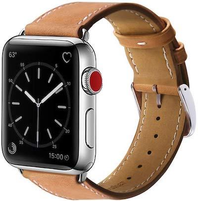 BRG コンパチブル Apple Watch 本革レザーバンド