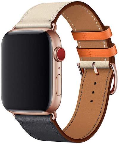 WFEAGL コンパチブル Apple Watch 本革レザーバンド