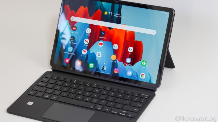Keyboard Cover Galaxy Tab S7 レビュー